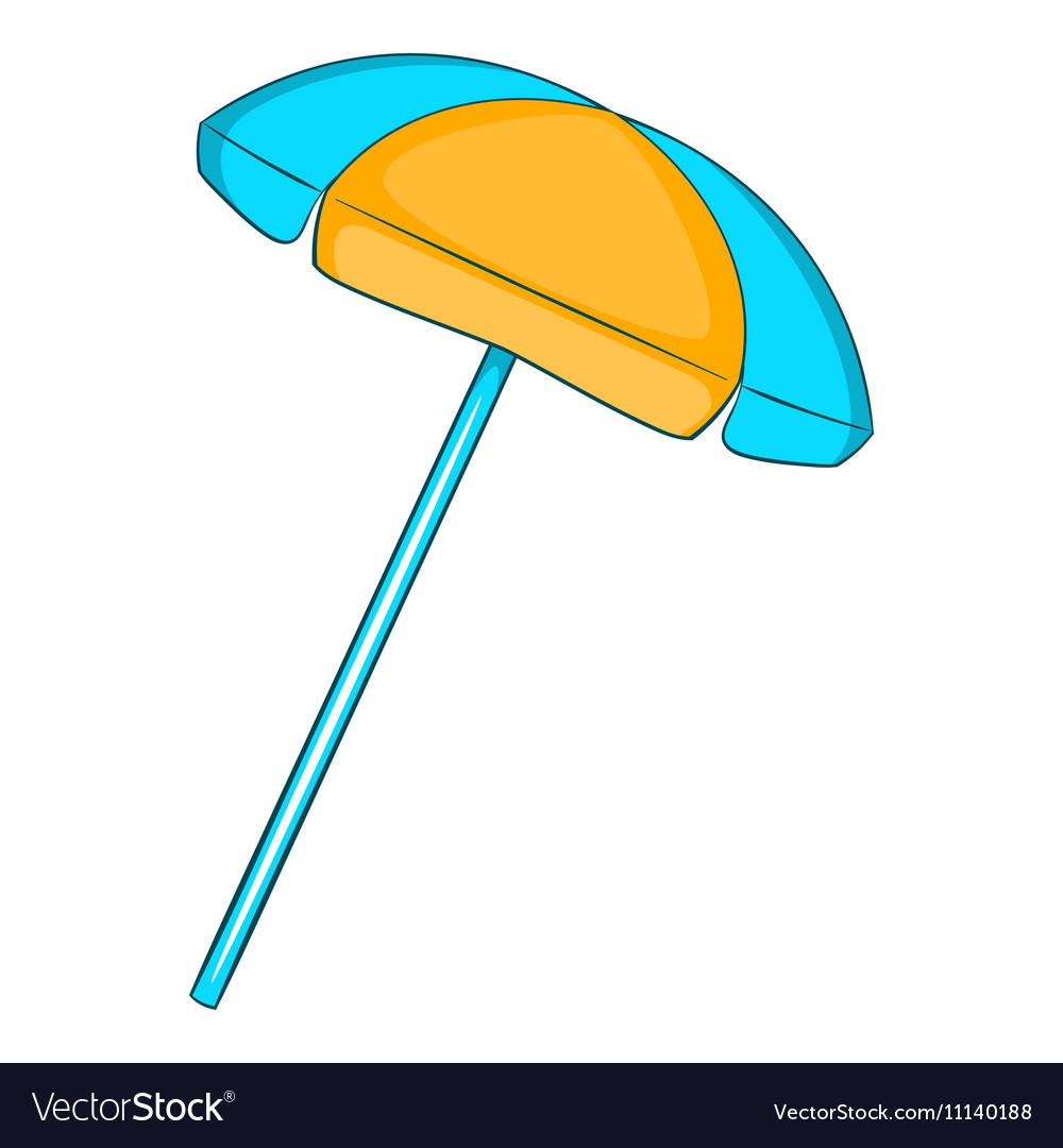 Sun umbrella icon flat style vector