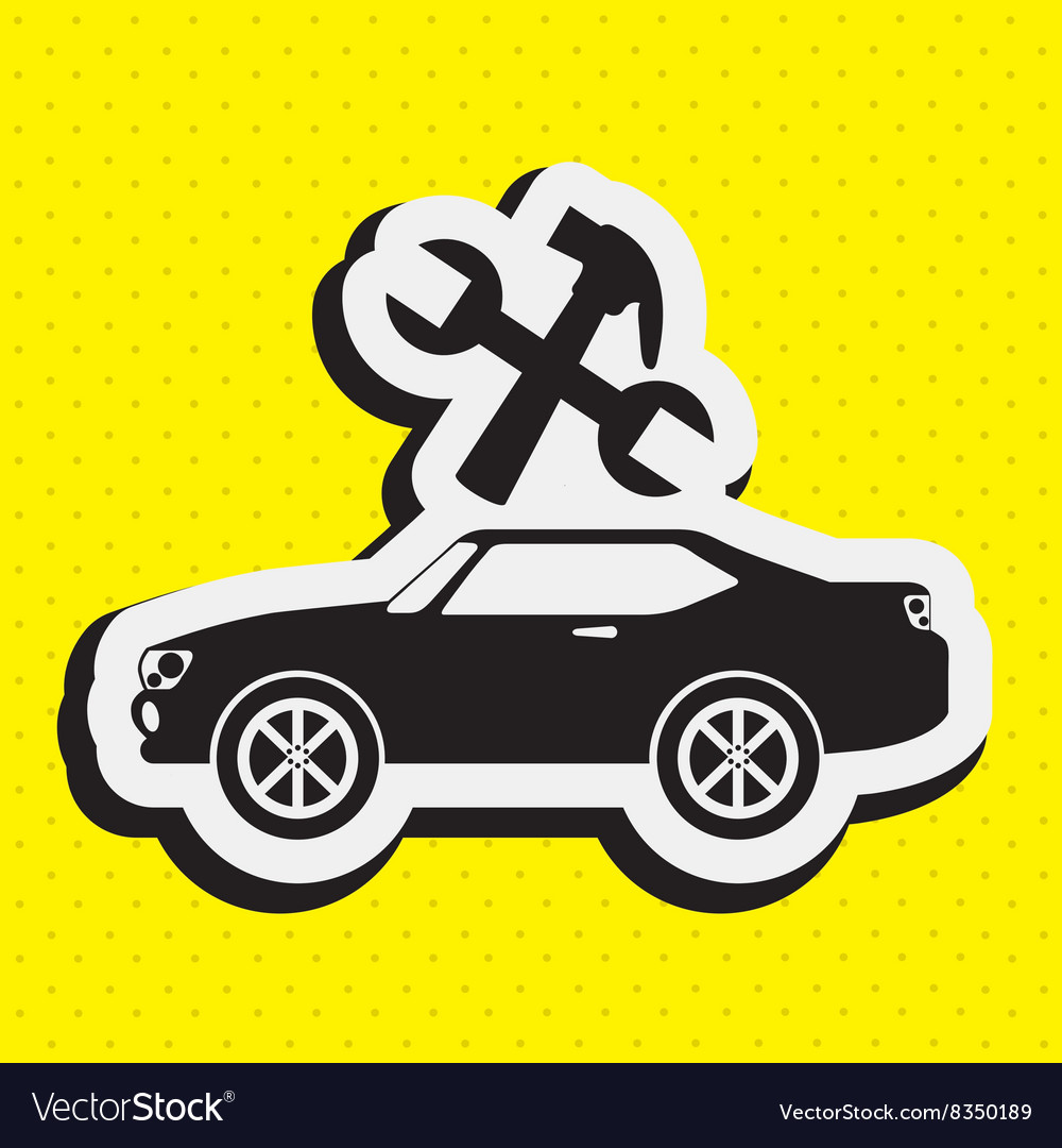Car repair service design vector
