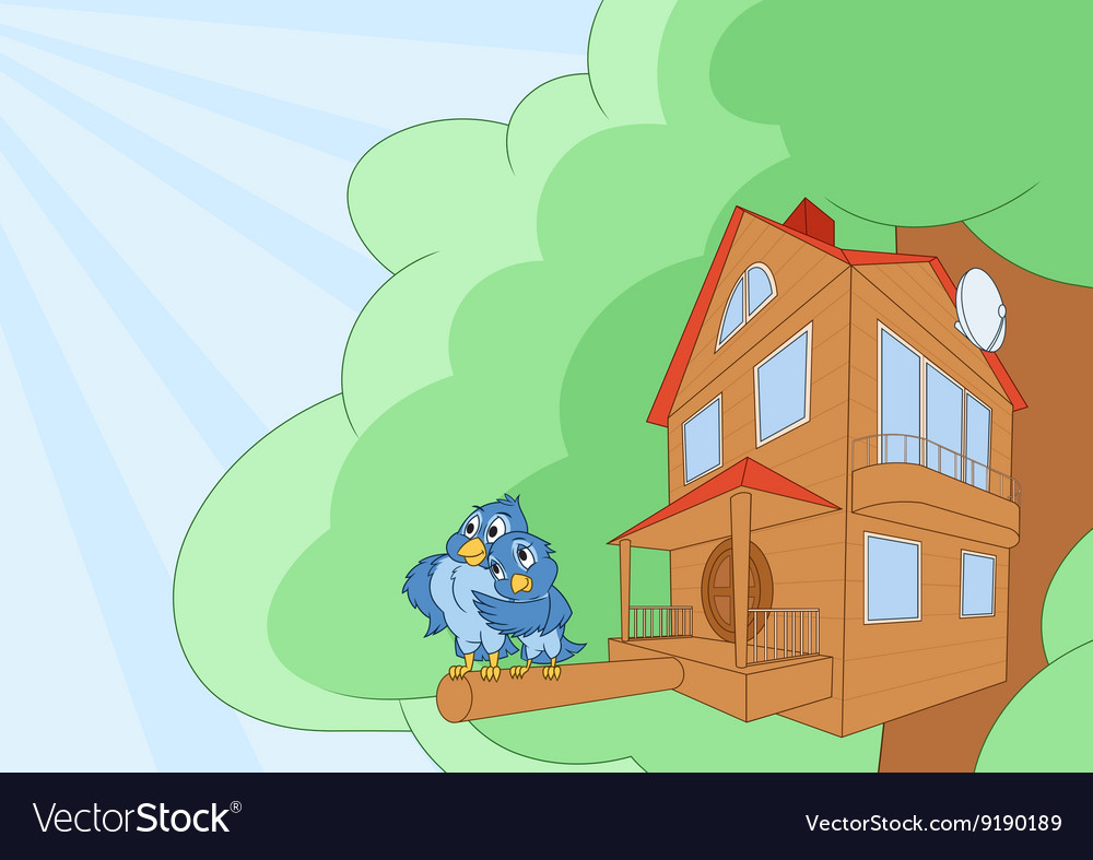 Comfortable bird house 2 vector