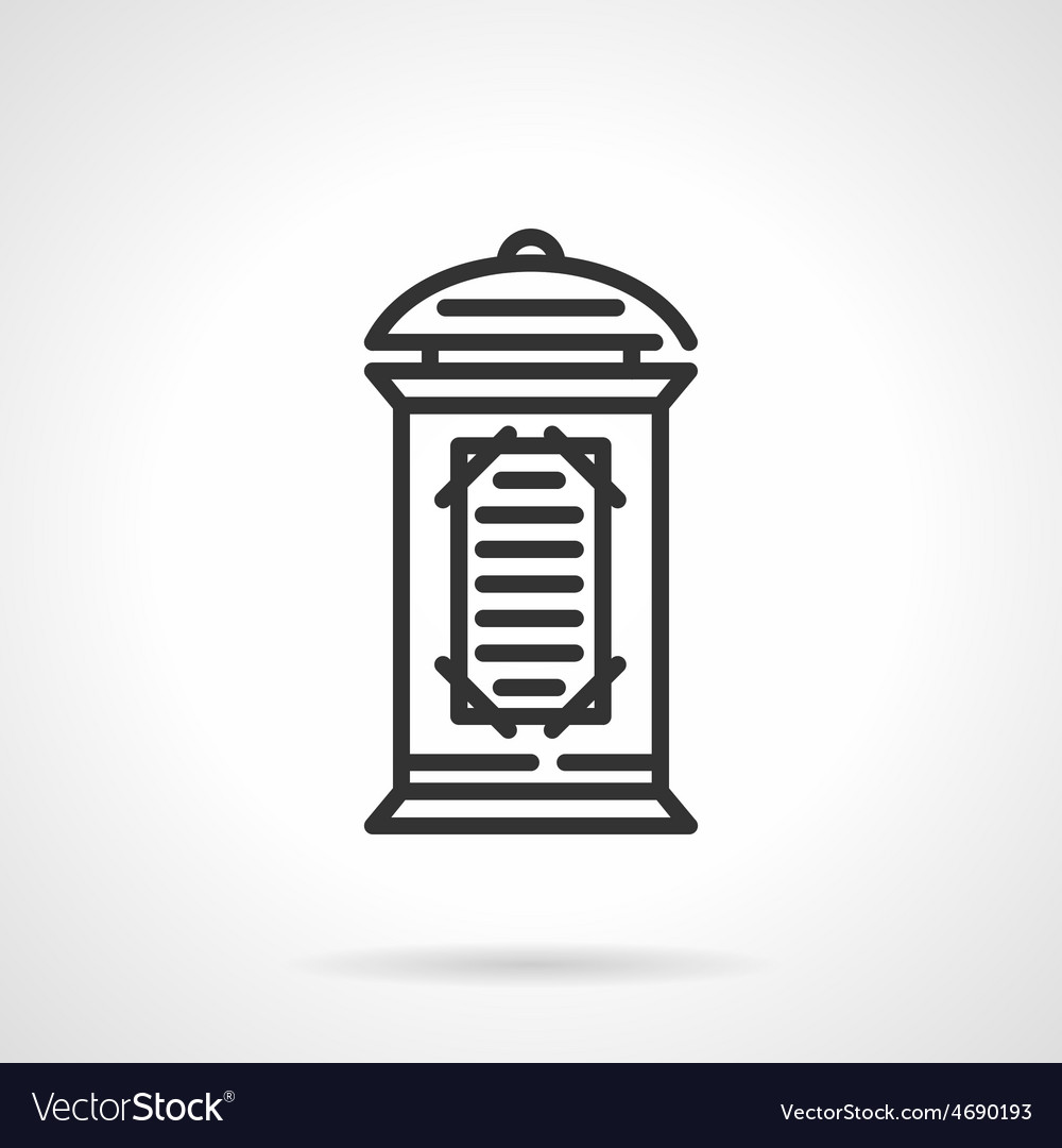 Advertising column black line icon vector