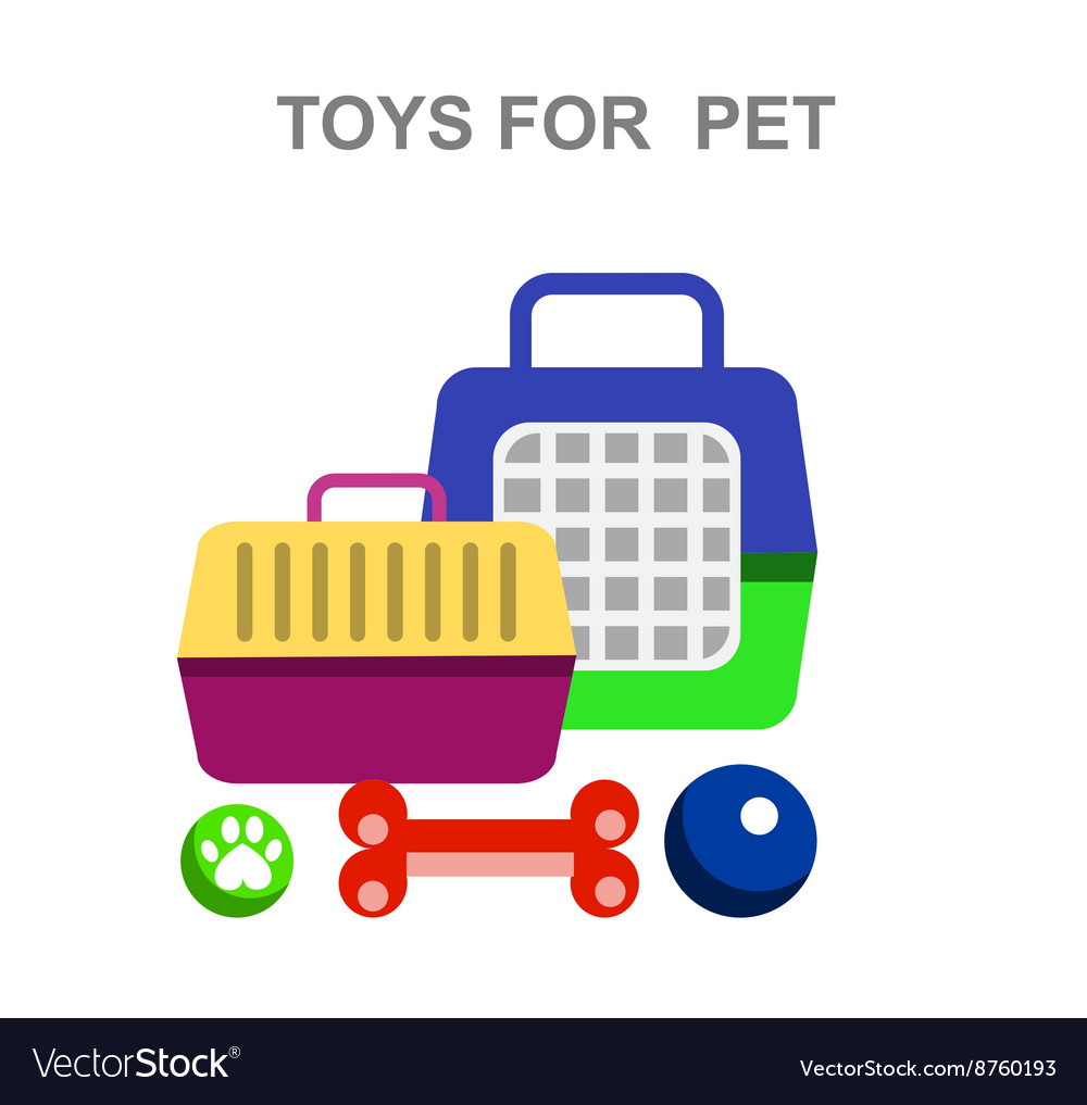High quality veterinary object and icons vector