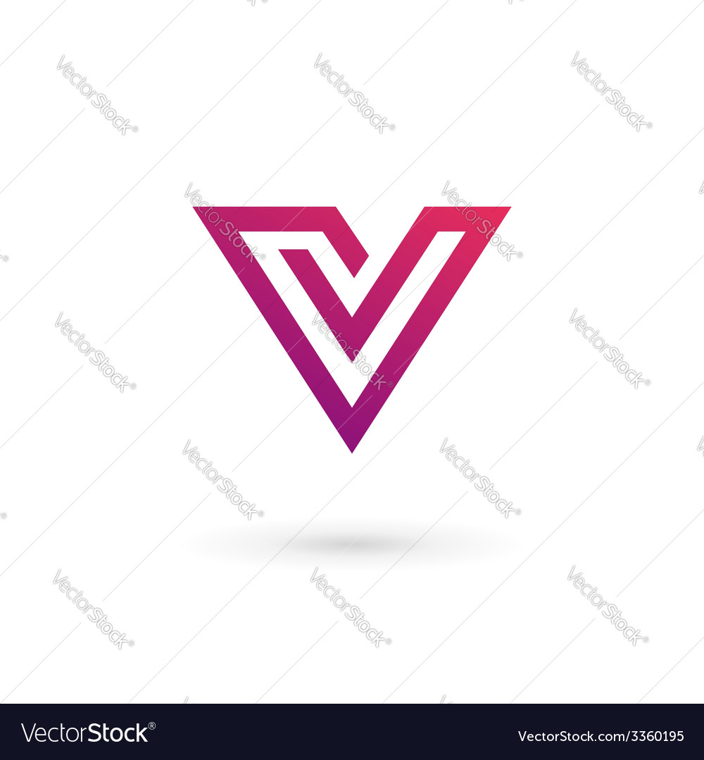 Letter v logo icon design template elements vector