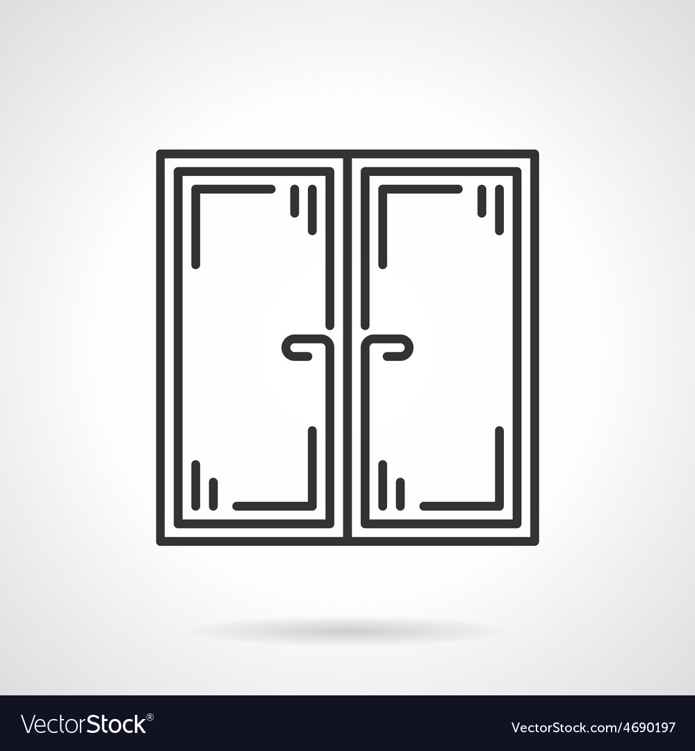 Double window black icon vector