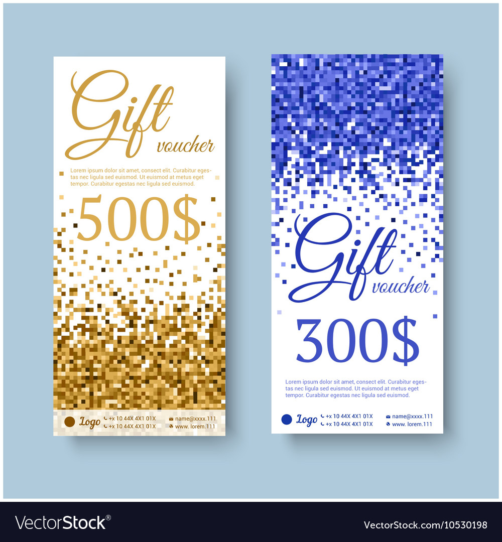 Gift certificate with gifts vector