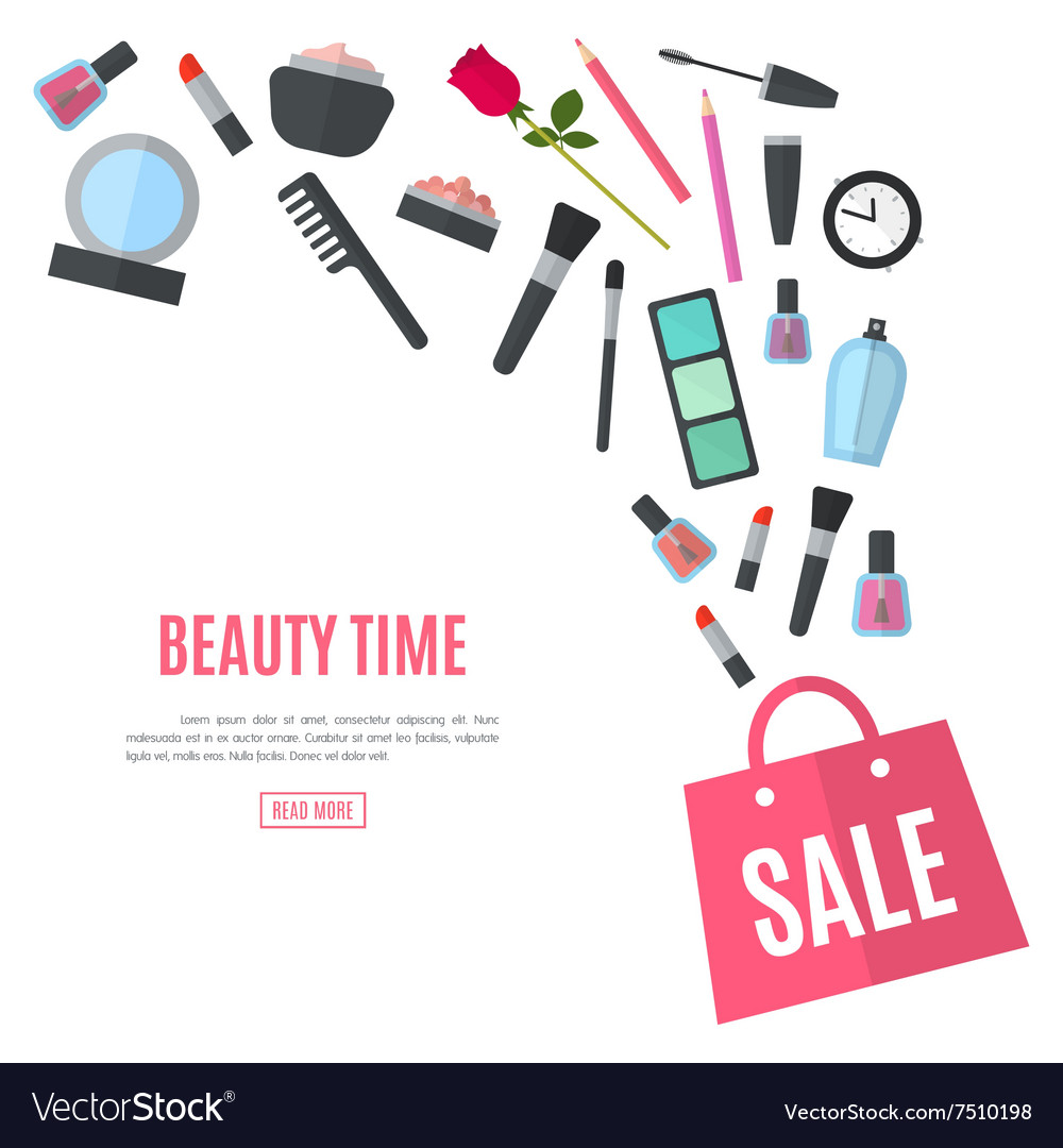 Make up concept flat vector
