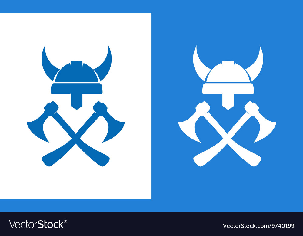 Sign of vikings equipment vector