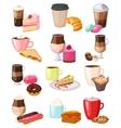 Coffee snack set vector image