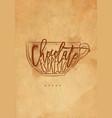 mocha cup craft vector image