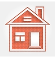 house on brick wall vector image