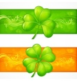 Clover banners vector image vector image