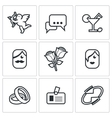 Speed dating Icons vector image