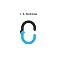 Creative C - letter icon vector image