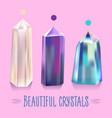 bright beautiful shiny crystals vector image
