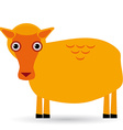 Cartoon of a sheep on white background vector image
