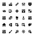 SEO Web Optimization Icons 1 vector image