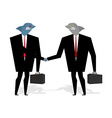 Business Sharks Handshake make deal Professionals vector image