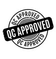 qc approved rubber stamp vector image