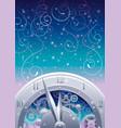 clockwork with cogwheels minute hour hands vector image