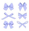 Set of vintage bows vector image vector image