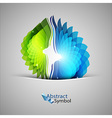 Purple and Green Shape vector image vector image