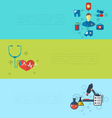 concept of medical diagnostics hospital clinic vector image vector image