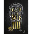 Poster popcorn butter black vector image