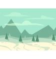 Cartoon flat seamless landscape vector image