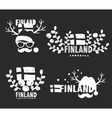 Set of labels of Finland vector image