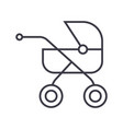 baby buggycarriage line icon sign vector image