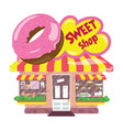 cartoon candy shop a small cute market for vector image