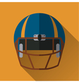 Football helm icon vector image