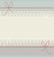 lace frame with polka dots and lines vector image