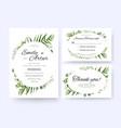 wedding invite invitation rsvp thank you card vector image