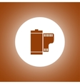 Flat Camera Film Roll vector image