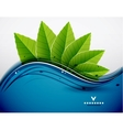 Green leaves nature design vector image vector image