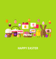 happy easter greeting postcard vector image