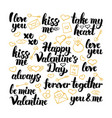valentine day hand drawn lettering vector image