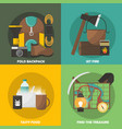 camping colored compositions vector image