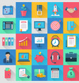 icons set for internet marketing vector image vector image