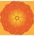Big orange flower vector image