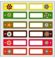 cool labels vector image