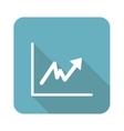 Square rising graphic icon vector image