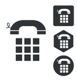 Cellphone icon set monochrome vector image