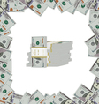 banknotes of dollars on a light background vector image