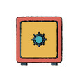 drawing safe box metal bank security vector image