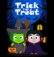 halloween background trick or treating with vector image