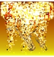 musical notes in a cloud of stars saxophone vector image