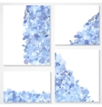 set of four banners headers with blue blots vector image