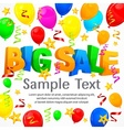 Big sale inscription on festive background vector image