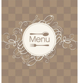 menu with a flourish vector image vector image